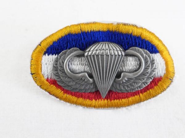 US Parachute Patch badge Fallschirmspringer Abzeichen Springerabzeichen Wings oval