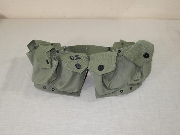 US ARMY WW2 BAR BELT MAGAZINE M1944 KOPPEL AMMO greenish Magazin Koppel