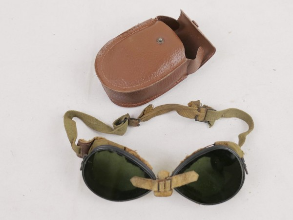 US ARMY WW2 Mountain Trooper Goggles Gebirgsjäger Brille Schneebrille in Tasche #2
