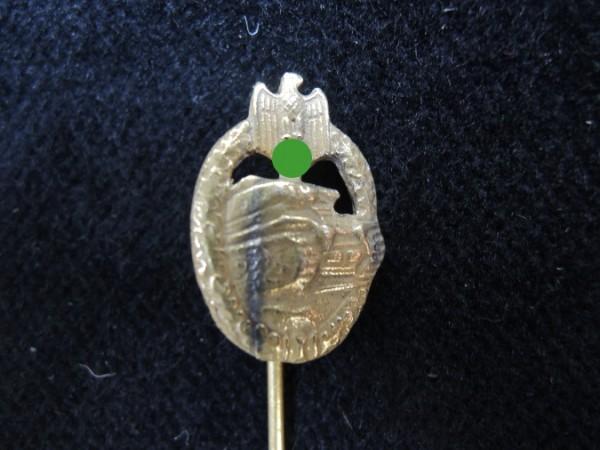 WH Miniatur Panzerkampfabzeichen Gold Anstecknadel