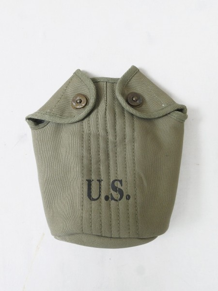 US ARMY WW2 Feldflaschenbezug cover field canteen Bezug Feldflasche Brass (Brab)