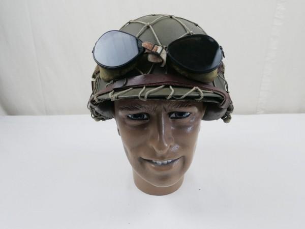 US Army M1 Steel pot helmet Stahlhelm Typ WK 2 + Helmnetz Schutzbrille