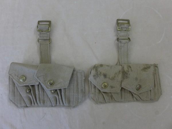 2x Stück British Lee Enfield Rifle Patronentasche Webbing 50er