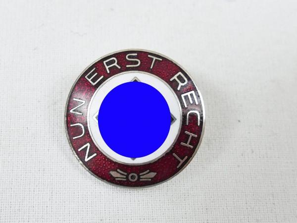"Frühes NSDAP Sympathie RZM Abzeichen an Nadel "" Nun erst recht """
