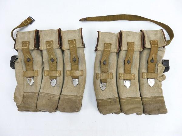#04 Wehrmacht 2x Magazintasche Paar Sturmgewehr 44 Tropen Südfront STGW44 MP44 MKB Afrikakorps