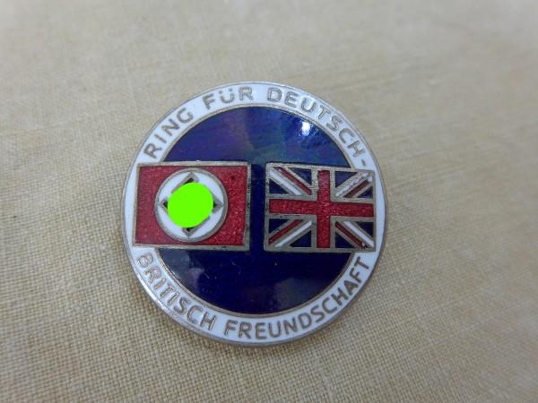 """Original Abzeichen """"Ring für Deutsch Britische Freundschaft"""" an Nadel - Deschler & Sohn"""