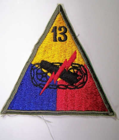 US Ärmelabzeichen 13th Armored Division