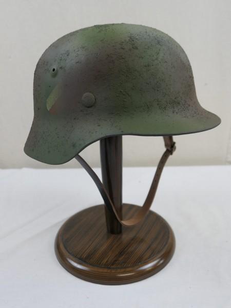 Wehrmacht M40 Heeres Stahlhelm Glocke Camouflage mit Helmfutter & Kinnriemen