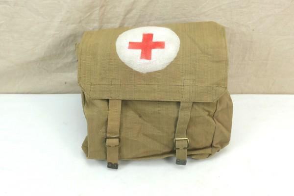 WW2 British Army red Cross webbing bag große Sanitäter Tasche 1945 Rotkreuz