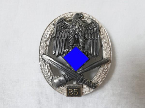 Wehrmacht Allgemeines Sturmabzeichen mit Einsatzzahl 25