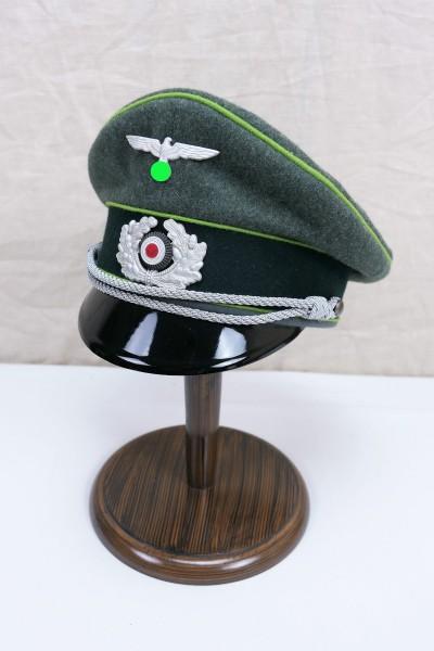 Wehrmacht Gebirgsjäger Offiziers Schirmmütze mit Effekten Gr.59