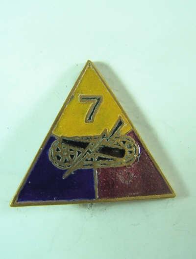 US Army 7th Armd Div. Unit Crest