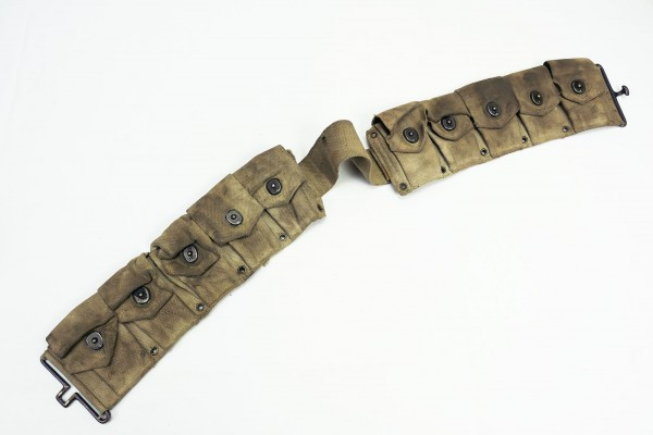 Original WW2 US Army M1 Garand M1923 Cartridge Belt Munitionsgurt