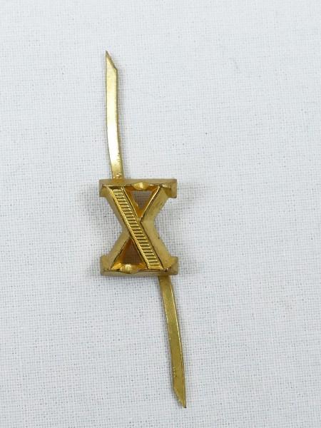 Wehrmacht Auflage Zahl / Ziffer RÖMISCH - X - Goldfarben für Schulterstücke Schulterklappen