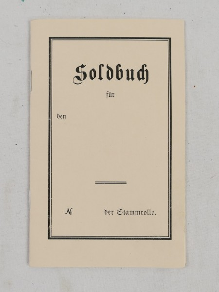 Soldbuch Soldat 1.Weltkrieg 1914-18