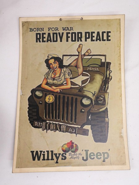 Bild Plakat Poster Ready for Peace - Willys Jeep