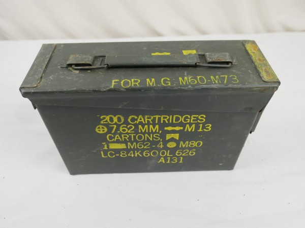 Type Vietnam Munitionskiste Munikiste Metall Box 200x CAL.7.62 MM