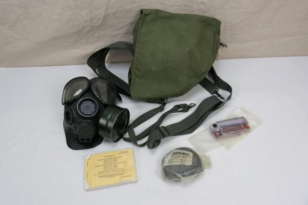 US Army M40 Gasmask + Bag + Manual + Equitment / Gasmaske in Gasmaskentasche mit Zubehör Gr. M/L