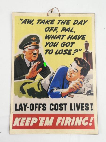 Bild Plakat Poster Anti German A.H. Satire / fester Karton / Pappe