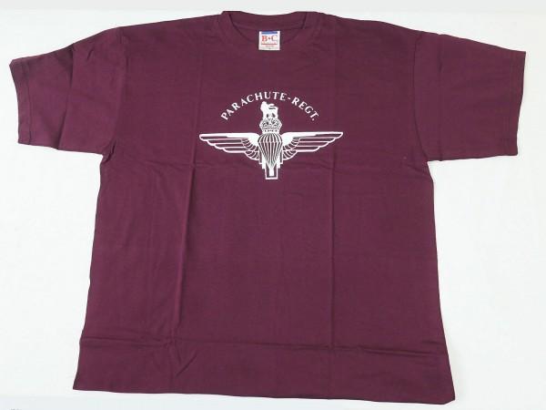 T-Shirt Englisch Parachute Purpur Para British WW2 Pegasus Logo