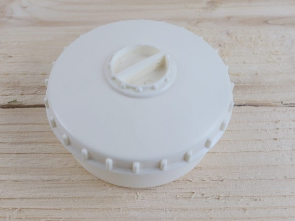 Dose Vorrat Gewürze Salz / Pfeffer / Butterdose / Behälter / Vorratsdose mit Streuer weiß