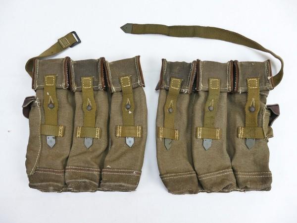 #19 Wehrmacht 2x Magazintasche Vintage Paar Sturmgewehr 44 Roter Faden STGW44 MP44 MKB Spätkrieg