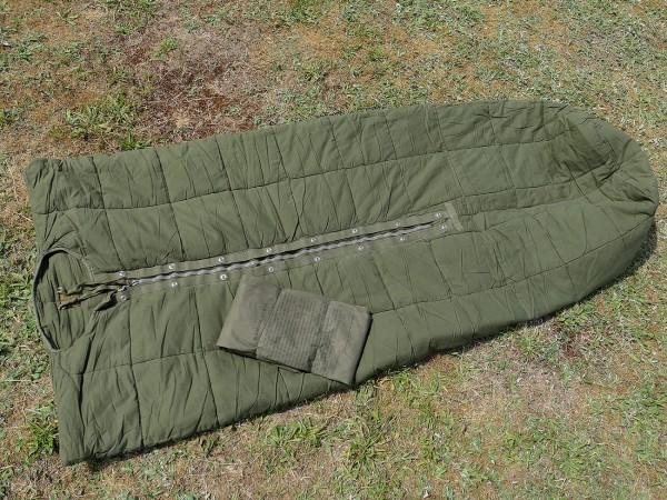 Vintage Armee Korea Vietnam Schlafsack M58 + Hülle / sleeping bag + cover TYP3