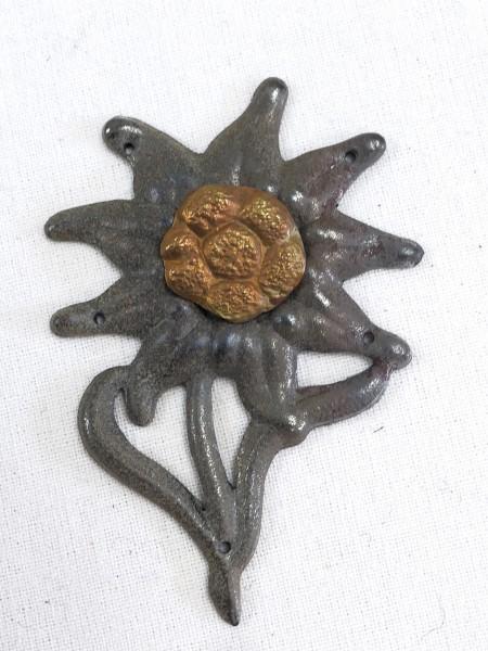 Wehrmacht Edelweiss Mützenabzeichen zum Aufnähen