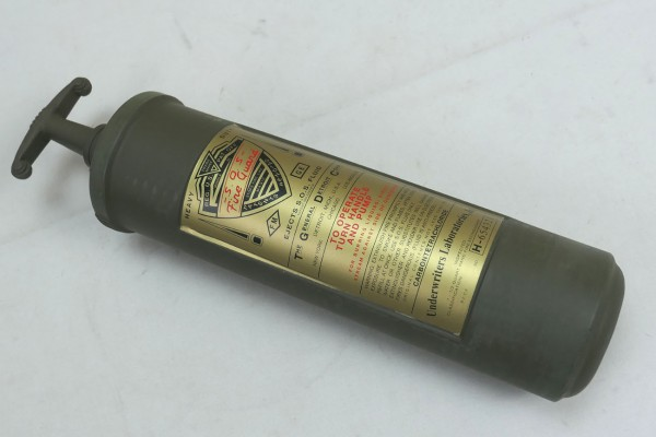 Feuerlöscher Fire Extinguisher S.O.S. Fire Guard Willys Jeep MB Hotchkiss M 201 Ford GPW