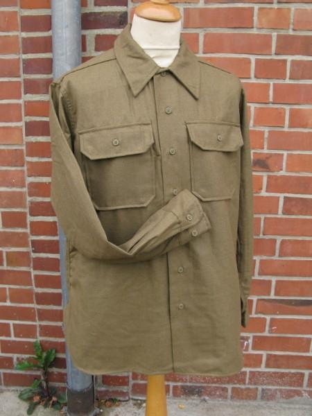 US Army Feldhemd M37 Wolle senfbraun für Mannschaften