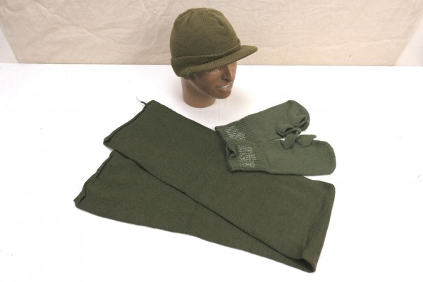 US ARMY Typ WW2 Winter Set - Jeep cap - Schal - Handschuhe Trigger Finger Glooves