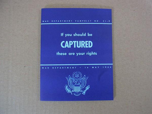 """US Army Fibel """"If you get captured"""" Verhalten bei Gefangennahme POW"""