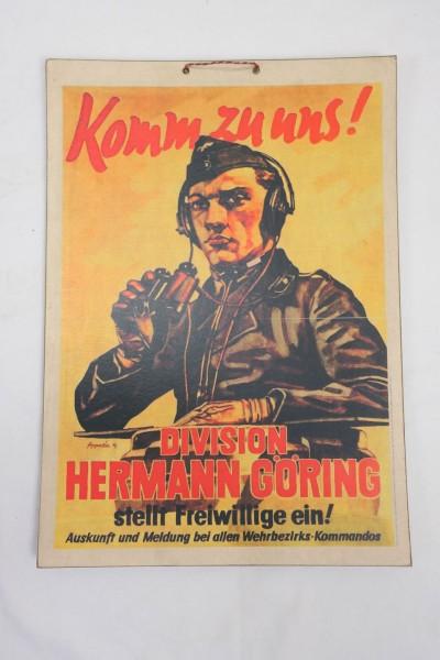 Bild Plakat Poster - Luftwaffe - Komm zu uns - Division Hermann Göring