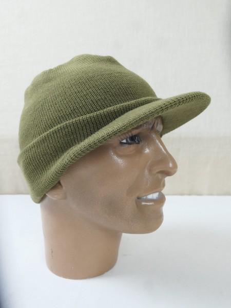 M-1941 Capwool Knit BEANIE CAP US ARMY WW2 Strickmütze oliv Mütze Jeep Driver