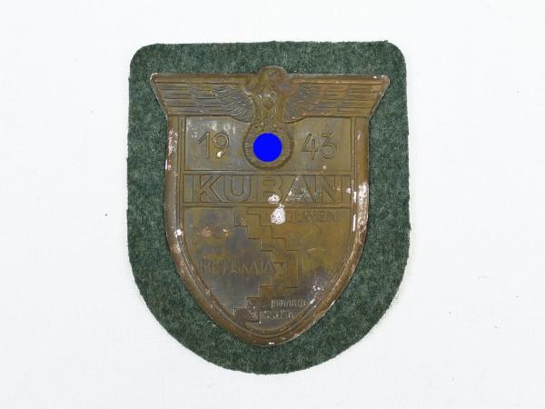 Wehrmacht Ärmelschild Kuban 1943 Kubanschild Feldbluse