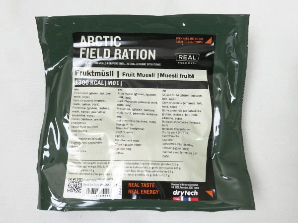 Original Norwegische ARCTIC Field Ration Army Notration Survival Food EPA Meal Drytech