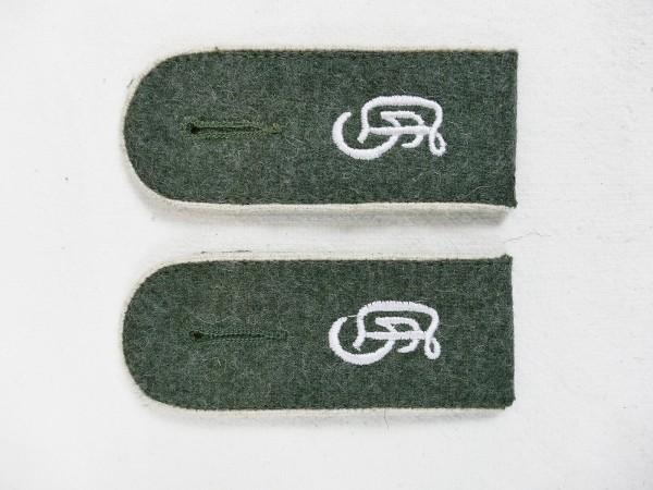 Wehrmacht Paar Schulterklappen Großdeutschland GD Mannschaften für Feldbluse M40