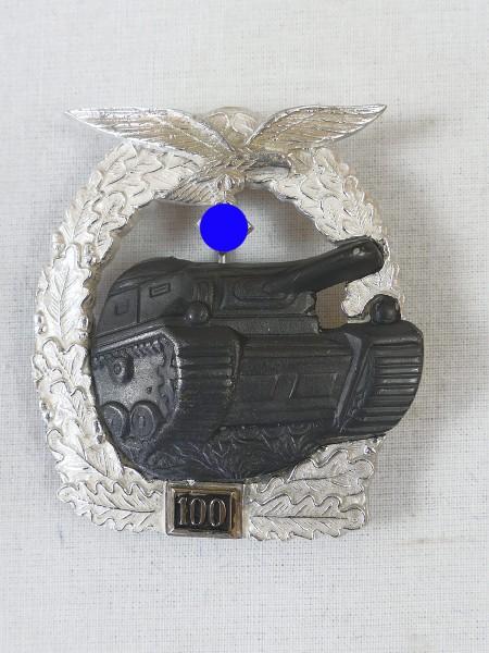 Panzerkampfabzeichen der Luftwaffe mit Einsatzzahl 100