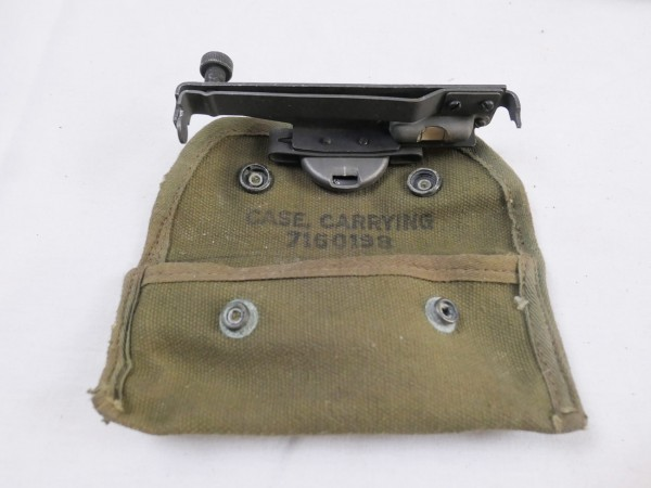 US ARMY TOOL M15 Garand M1 Rifle Sight Grenade Launcher Visier Aufsatz + Pouch Case Carrying