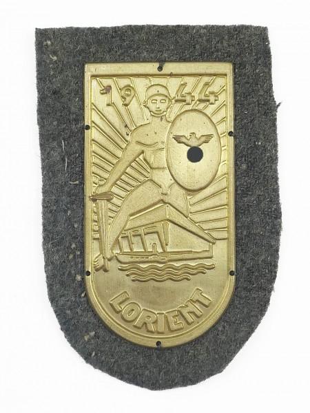 Wehrmacht Ärmelabzeichen Lorient 1944 gold