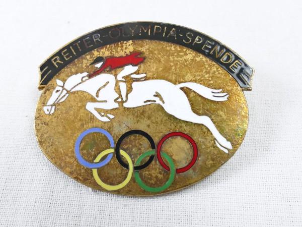 Olympiade Abzeichen - Reiter Olympia Spende 1936 - Brosche Anstecker