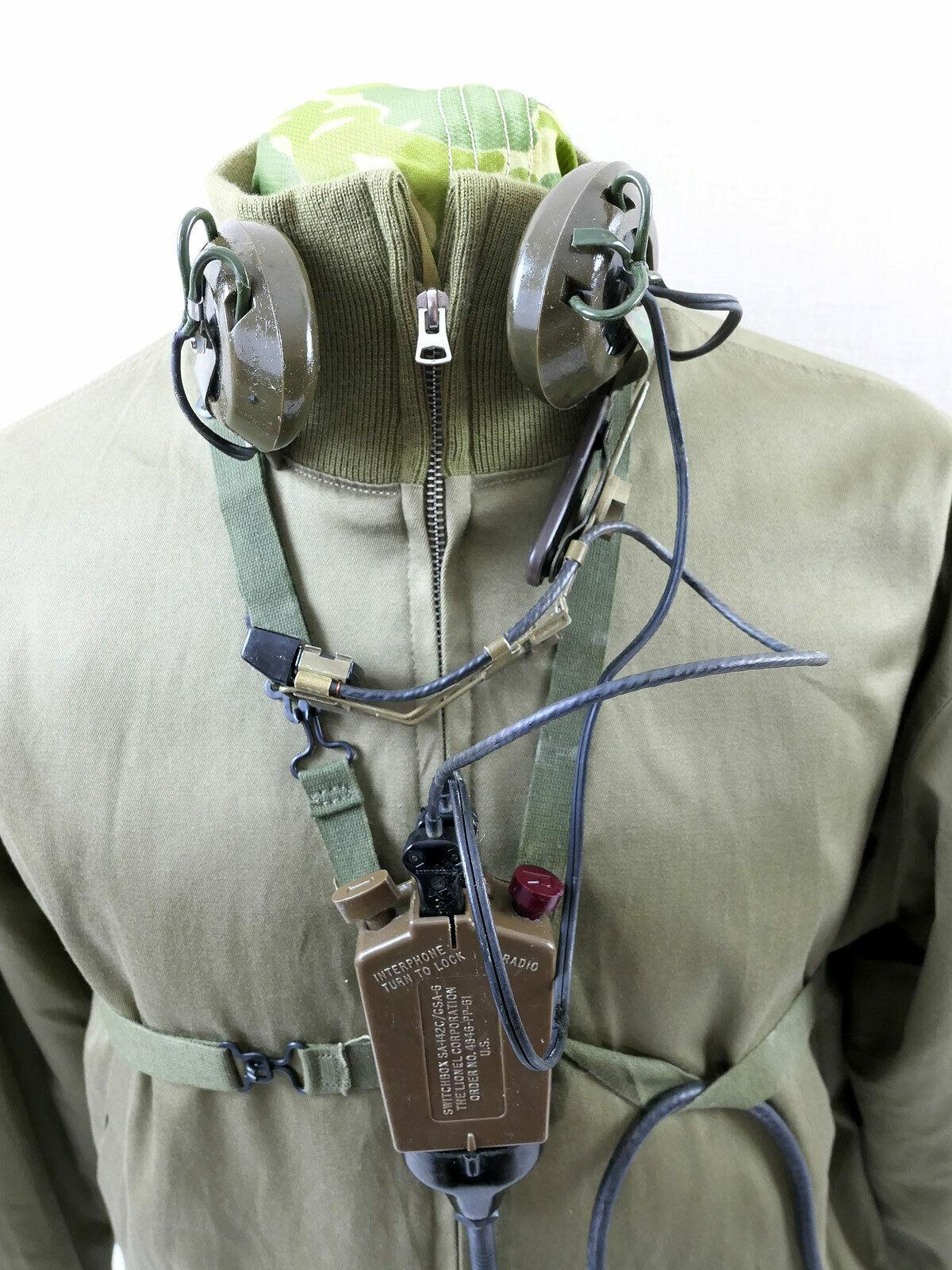 US ARMY Vietnam chest set AN//GSA-6 Radio mit Kopfhörer Microphone Funk Mikrofon