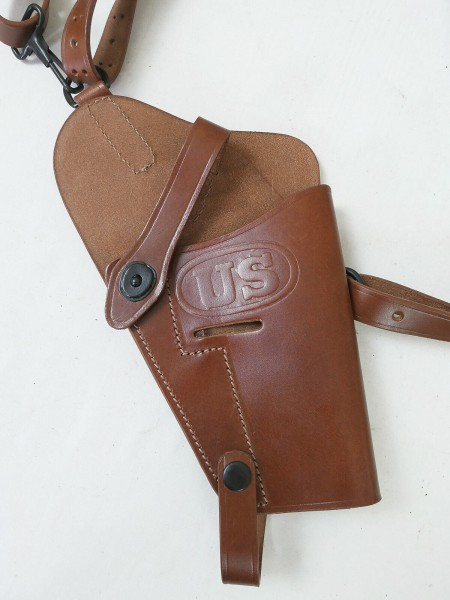 US Colt 45 Pistolen Holster M7 Leder braun Lederholster Goverment Schulterholster