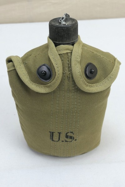 US Army WW2 Feldflasche Marine Corps + Bezug + Becher - USMC Canteen