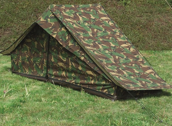 Holländisches Einmannzelt, Zelt mit Boden, Tarn