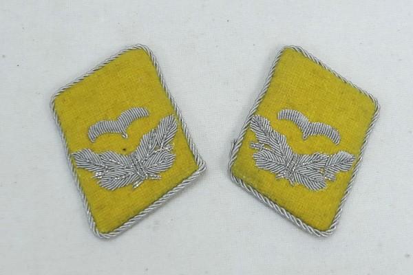 WW2 Luftwaffe Kragenspiegel Leutnant LW Fallschirmjäger