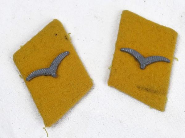 Wehrmacht Luftwaffe Kragenspiegel Flieger / Unteroffizier