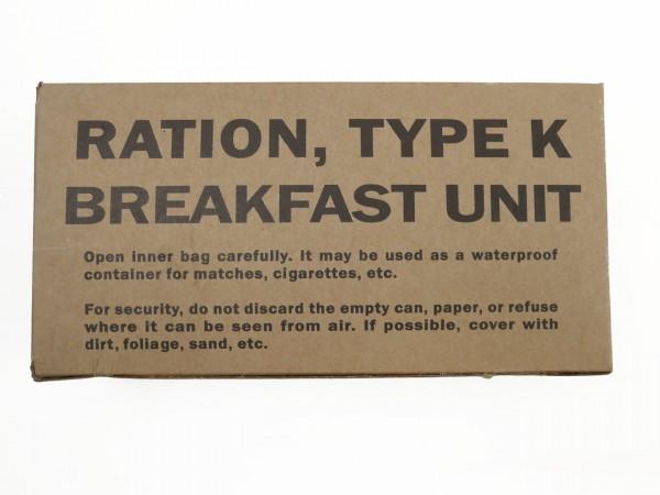 US ARMY WW2 Rations Type K Breakfast Unit / Rationen Box Karton Verpflegung