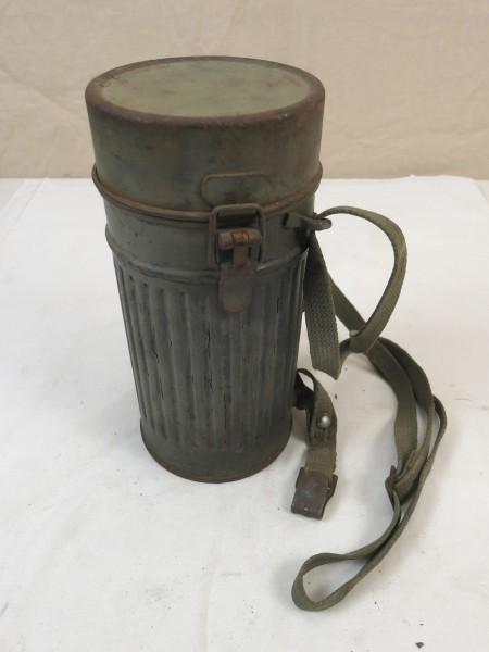 Original Wehrmacht Gasmaskendose Schutzmaskenbüchse 1934