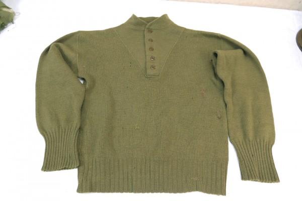 US Army WW2 Sweater High Neck Shirt Pullover Strickpullover 1944 Medium
